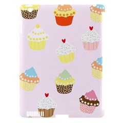 Seamless Cupcakes Wallpaper Pattern Background Apple Ipad 3/4 Hardshell Case (compatible With Smart Cover)