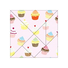 Seamless Cupcakes Wallpaper Pattern Background Acrylic Tangram Puzzle (4  x 4 )