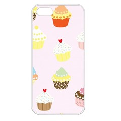 Seamless Cupcakes Wallpaper Pattern Background Apple iPhone 5 Seamless Case (White)