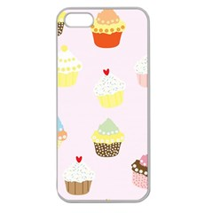 Seamless Cupcakes Wallpaper Pattern Background Apple Seamless Iphone 5 Case (clear)