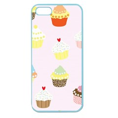 Seamless Cupcakes Wallpaper Pattern Background Apple Seamless iPhone 5 Case (Color)