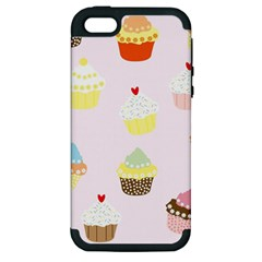 Seamless Cupcakes Wallpaper Pattern Background Apple iPhone 5 Hardshell Case (PC+Silicone)