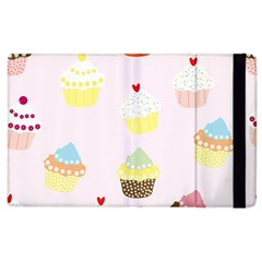 Seamless Cupcakes Wallpaper Pattern Background Apple Ipad 3/4 Flip Case