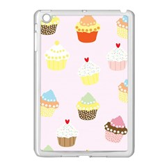 Seamless Cupcakes Wallpaper Pattern Background Apple iPad Mini Case (White)