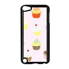 Seamless Cupcakes Wallpaper Pattern Background Apple Ipod Touch 5 Case (black)