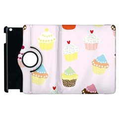 Seamless Cupcakes Wallpaper Pattern Background Apple Ipad 3/4 Flip 360 Case