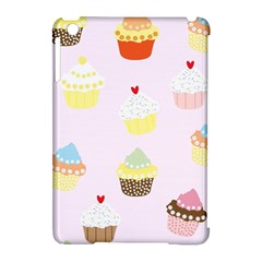 Seamless Cupcakes Wallpaper Pattern Background Apple iPad Mini Hardshell Case (Compatible with Smart Cover)