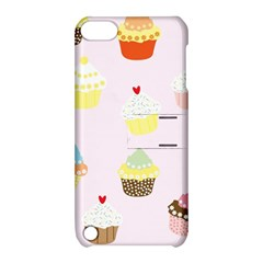 Seamless Cupcakes Wallpaper Pattern Background Apple iPod Touch 5 Hardshell Case with Stand