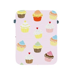 Seamless Cupcakes Wallpaper Pattern Background Apple iPad 2/3/4 Protective Soft Cases