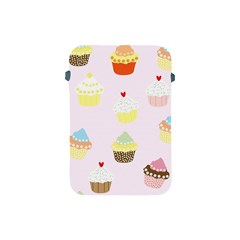 Seamless Cupcakes Wallpaper Pattern Background Apple iPad Mini Protective Soft Cases