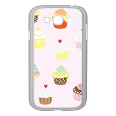 Seamless Cupcakes Wallpaper Pattern Background Samsung Galaxy Grand Duos I9082 Case (white)