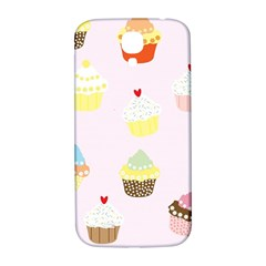 Seamless Cupcakes Wallpaper Pattern Background Samsung Galaxy S4 I9500/i9505  Hardshell Back Case