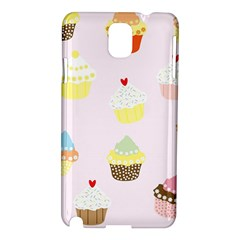 Seamless Cupcakes Wallpaper Pattern Background Samsung Galaxy Note 3 N9005 Hardshell Case