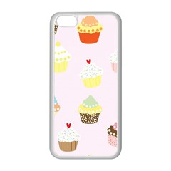 Seamless Cupcakes Wallpaper Pattern Background Apple iPhone 5C Seamless Case (White)