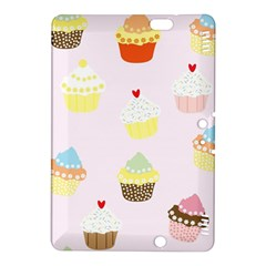Seamless Cupcakes Wallpaper Pattern Background Kindle Fire HDX 8.9  Hardshell Case