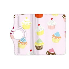Seamless Cupcakes Wallpaper Pattern Background Kindle Fire Hd (2013) Flip 360 Case