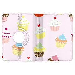 Seamless Cupcakes Wallpaper Pattern Background Kindle Fire Hdx Flip 360 Case