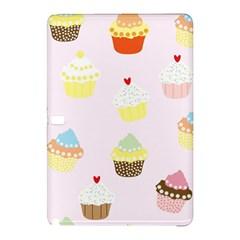 Seamless Cupcakes Wallpaper Pattern Background Samsung Galaxy Tab Pro 10 1 Hardshell Case