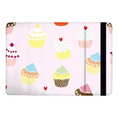 Seamless Cupcakes Wallpaper Pattern Background Samsung Galaxy Tab Pro 10 1  Flip Case