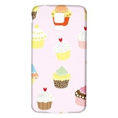 Seamless Cupcakes Wallpaper Pattern Background Samsung Galaxy S5 Back Case (white)