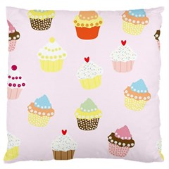 Seamless Cupcakes Wallpaper Pattern Background Standard Flano Cushion Case (One Side)