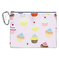 Seamless Cupcakes Wallpaper Pattern Background Canvas Cosmetic Bag (XXL)