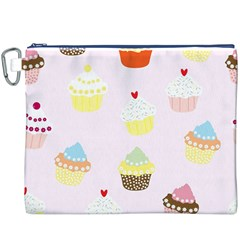 Seamless Cupcakes Wallpaper Pattern Background Canvas Cosmetic Bag (XXXL)