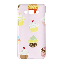 Seamless Cupcakes Wallpaper Pattern Background Samsung Galaxy A5 Hardshell Case
