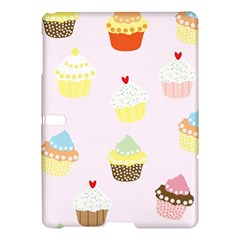 Seamless Cupcakes Wallpaper Pattern Background Samsung Galaxy Tab S (10.5 ) Hardshell Case