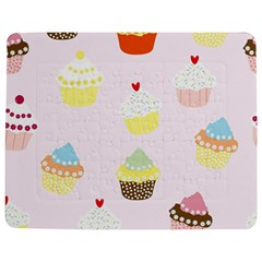 Seamless Cupcakes Wallpaper Pattern Background Jigsaw Puzzle Photo Stand (rectangular)