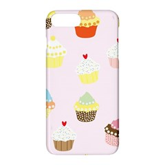 Seamless Cupcakes Wallpaper Pattern Background Apple Iphone 7 Plus Hardshell Case
