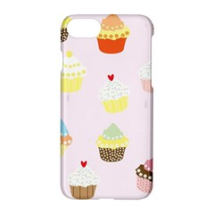 Seamless Cupcakes Wallpaper Pattern Background Apple Iphone 7 Hardshell Case