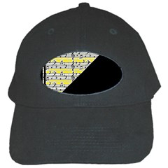Note Abstract Paintwork Black Cap