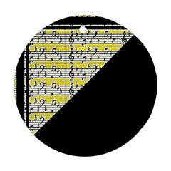 Note Abstract Paintwork Ornament (Round)