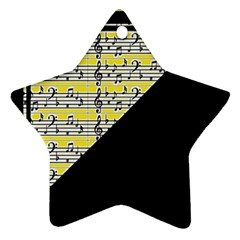 Note Abstract Paintwork Ornament (Star)