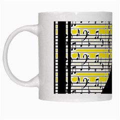 Note Abstract Paintwork White Mugs