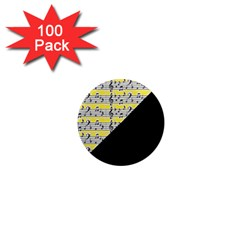 Note Abstract Paintwork 1  Mini Magnets (100 Pack)