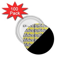 Note Abstract Paintwork 1.75  Buttons (100 pack)