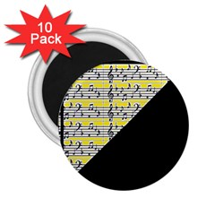 Note Abstract Paintwork 2.25  Magnets (10 pack)