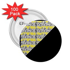 Note Abstract Paintwork 2 25  Buttons (100 Pack)