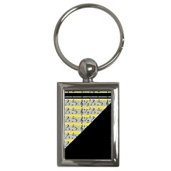 Note Abstract Paintwork Key Chains (Rectangle)