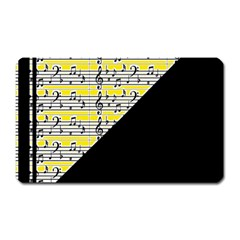 Note Abstract Paintwork Magnet (Rectangular)