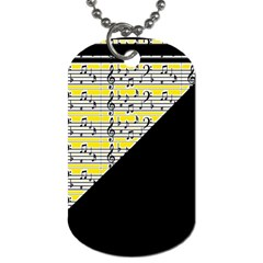 Note Abstract Paintwork Dog Tag (two Sides)