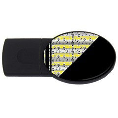 Note Abstract Paintwork USB Flash Drive Oval (1 GB)
