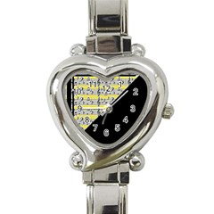 Note Abstract Paintwork Heart Italian Charm Watch