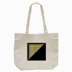 Note Abstract Paintwork Tote Bag (Cream)