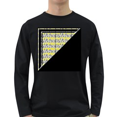 Note Abstract Paintwork Long Sleeve Dark T-Shirts