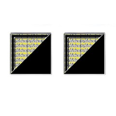 Note Abstract Paintwork Cufflinks (square)