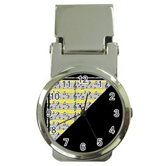 Note Abstract Paintwork Money Clip Watches