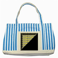 Note Abstract Paintwork Striped Blue Tote Bag